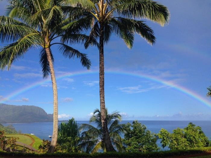 Rainbow Kauai Hanalei Bay