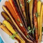 Garlic Rosemary Roasted Carrots