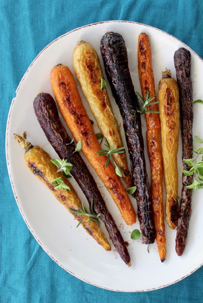 Garlic Roasted Heirloom Carrots Recipe with Rosemary, Thyme and Oregano