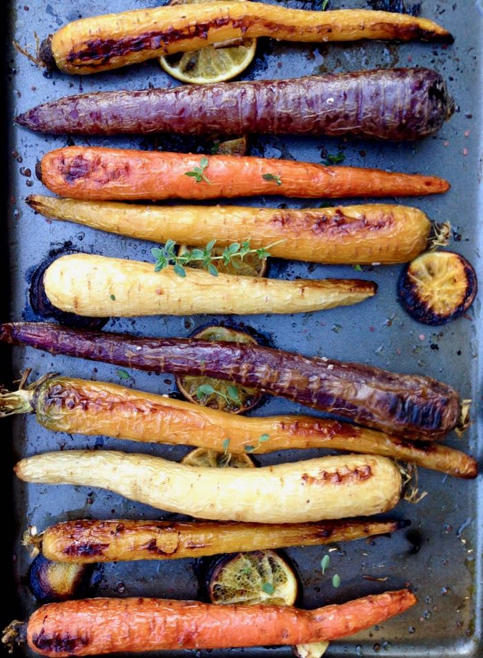 Roasted Heirloom Carrots