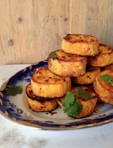 Oven Roasted Sweet Potato Rounds Recipe