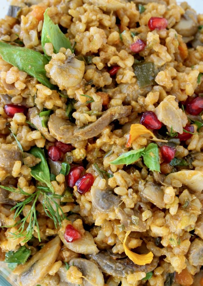 Vegan Mushroom Brown Rice Recipe