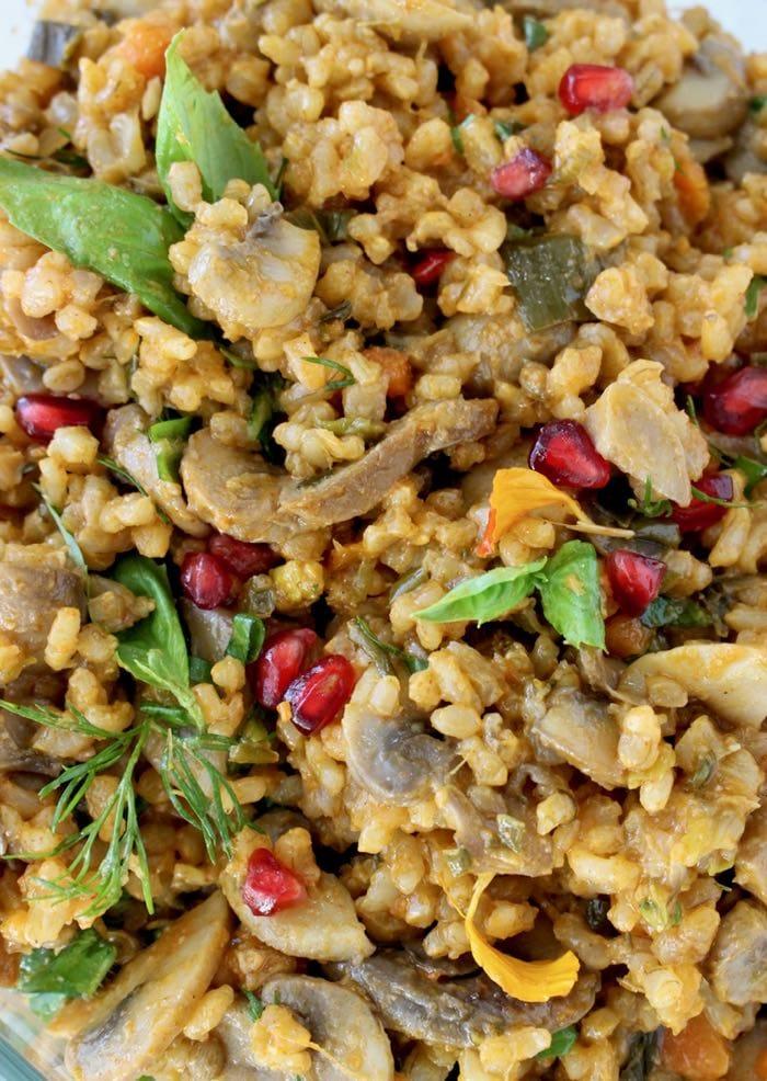 Vegan Mushroom Brown Rice Recipe