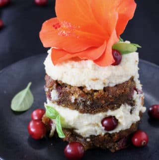 Vegan Pumpkin Carrot Cake Recipe with Cashew Frosting