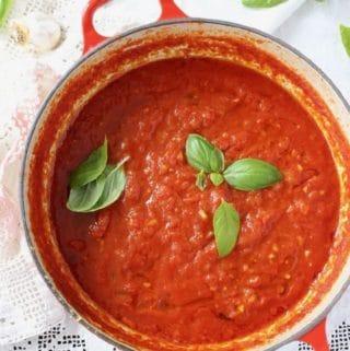 Vegan Tomato Sauce ~ Authentic Italian Recipe