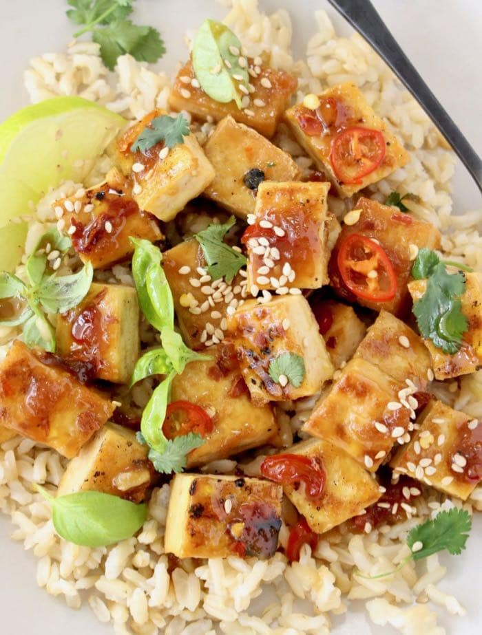 Best Orange Glazed Tofu Recipe with Garlic and Ginger