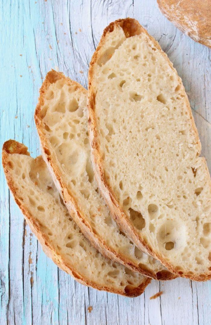 Easy Crusty Vegan Bread Recipe with Big Holes