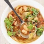 Healthy Cabbage and White Bean Soup
