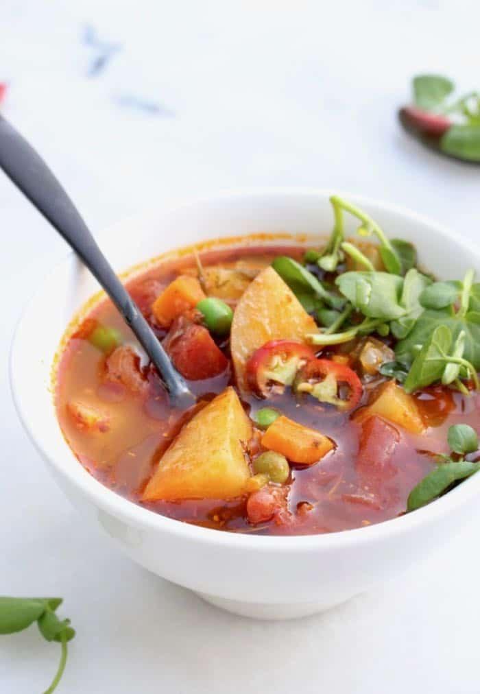 Healthy Chunky Vegan Potato Soup