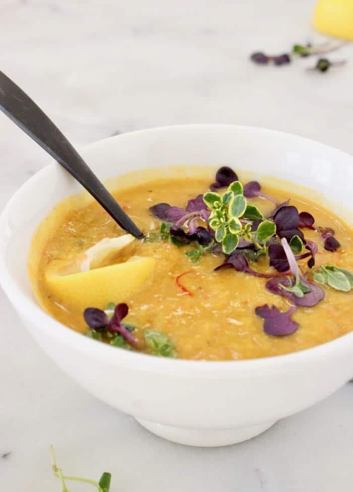 Vegan Lemon Lentil Soup Recipe