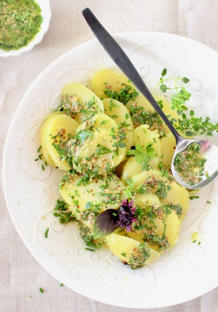 Vegan French Potato Salad Recipe with Mustard Vinaigrette ...