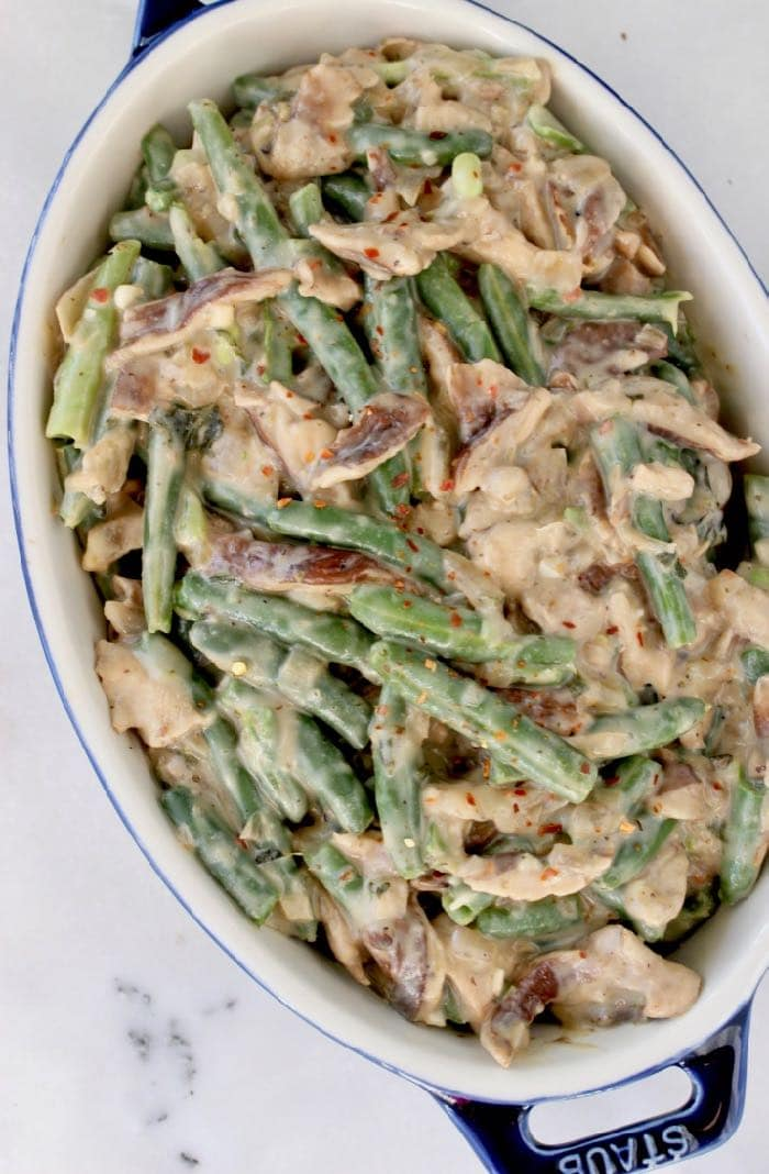 Easy Vegan Green Bean Casserole side dish