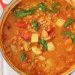 Lentil Potato Stew with Roasted Peppers