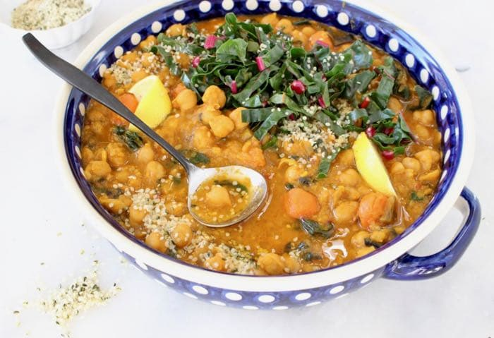 Easy Vegan Chickpea Stew Morrocan Style