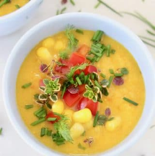 Easy Vegan Potato Corn Chowder Recipe