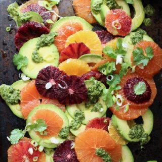 Orange Avocado Salad Recipe with Zesty Dressing