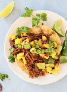 Jackfruit Tacos with Mango Salsa
