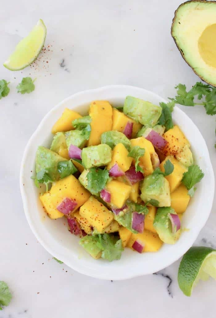 Avocado Mango Salad with Cilantro Lime Dressing
