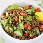 Cucumber Tomato Lentil Salad