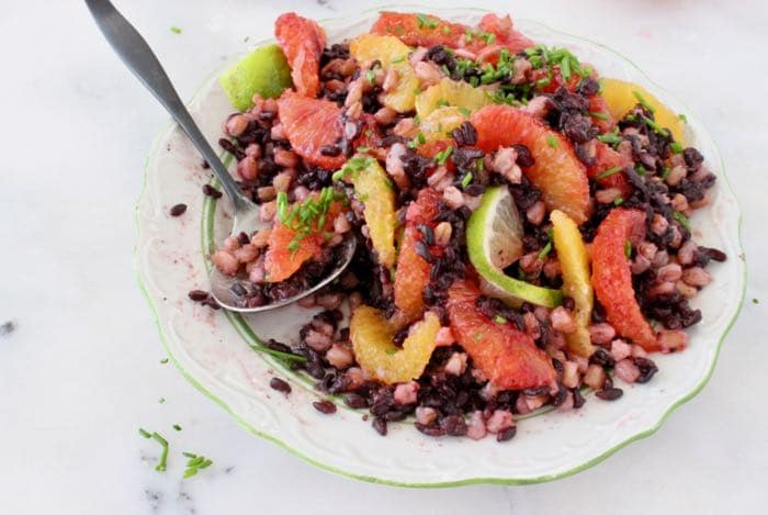 Farro Black Rice Salad with Citrus Vinaigrette - Vegan