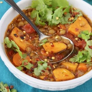Sweet Potato Lentil Soup Recipe – Vegan