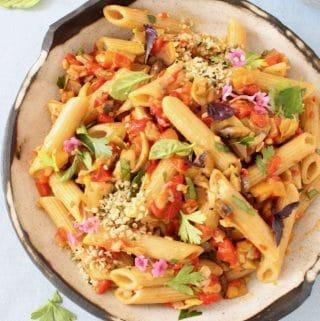 Vegan Italian Veggie Pasta Salad Recipe