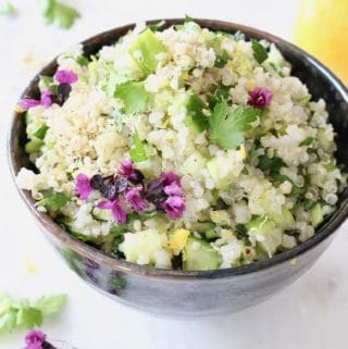 Lemon Quinoa Cucumber Salad Recipe