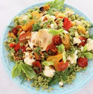 Vegan Pesto Quinoa Salad Recipe