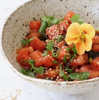 Watermelon Vegan Poke Bowl Recipe
