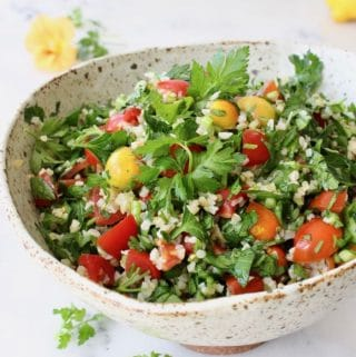Healthy Bulgur Wheat Salad Recipe ~ Tabouli