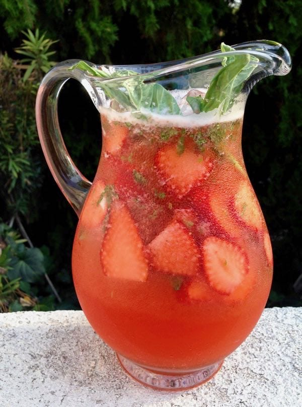 Easy Strawberry Basil Lemonade, Plant-Based Vegan, Gluten Free
