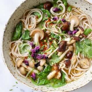 Vegan Miso Noodle Soup Recipe