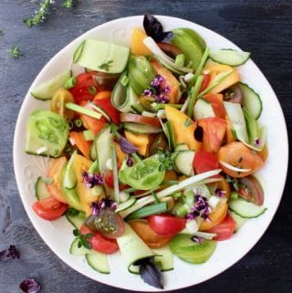 Tomato Onion Cucumber Salad Recipe