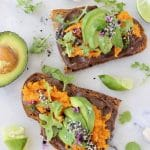 Sweet Potato Avocado Tartine