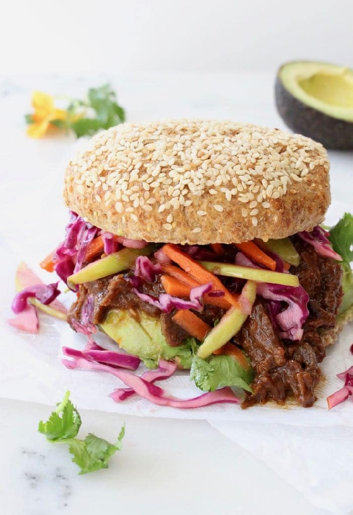 Pulled Jackfruit BBQ with Green Apple Coleslaw