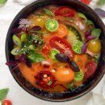 Vegan tomato gazpacho
