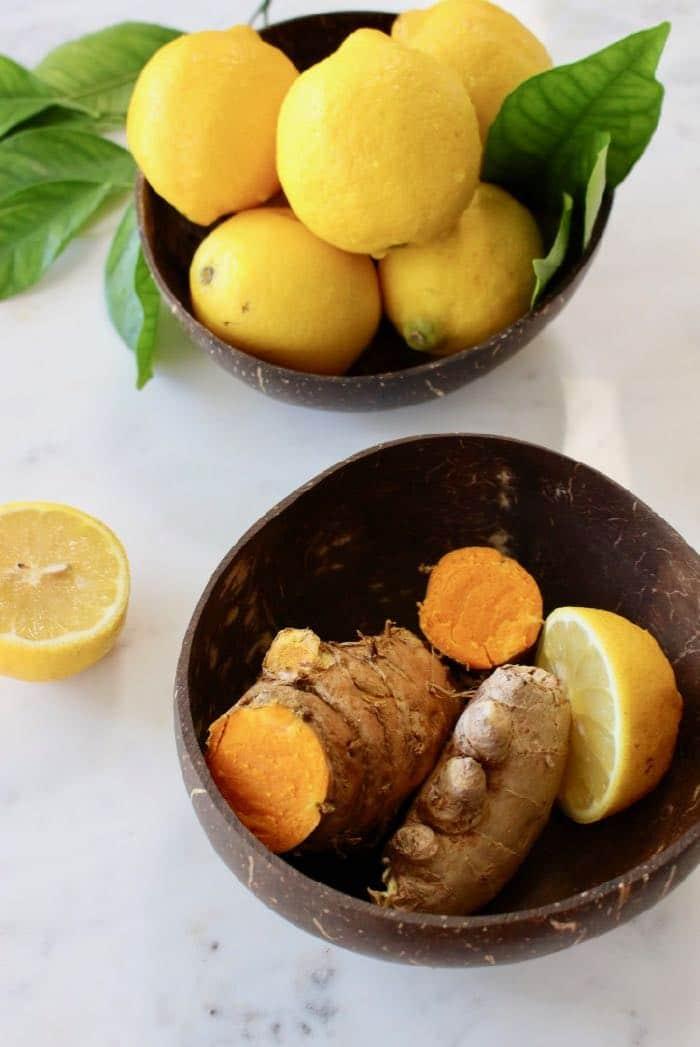Ginger Turmeric Lemonade Ingredients