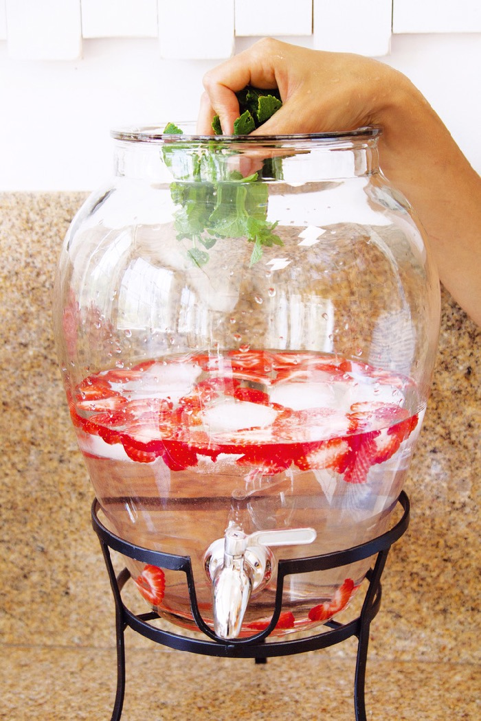 Strawberry Infused Water Jug