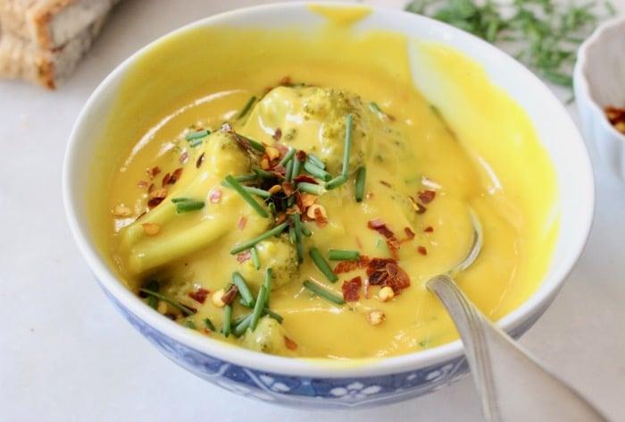 Creamy Vegan Broccoli Potato Soup - WFPB No Oil