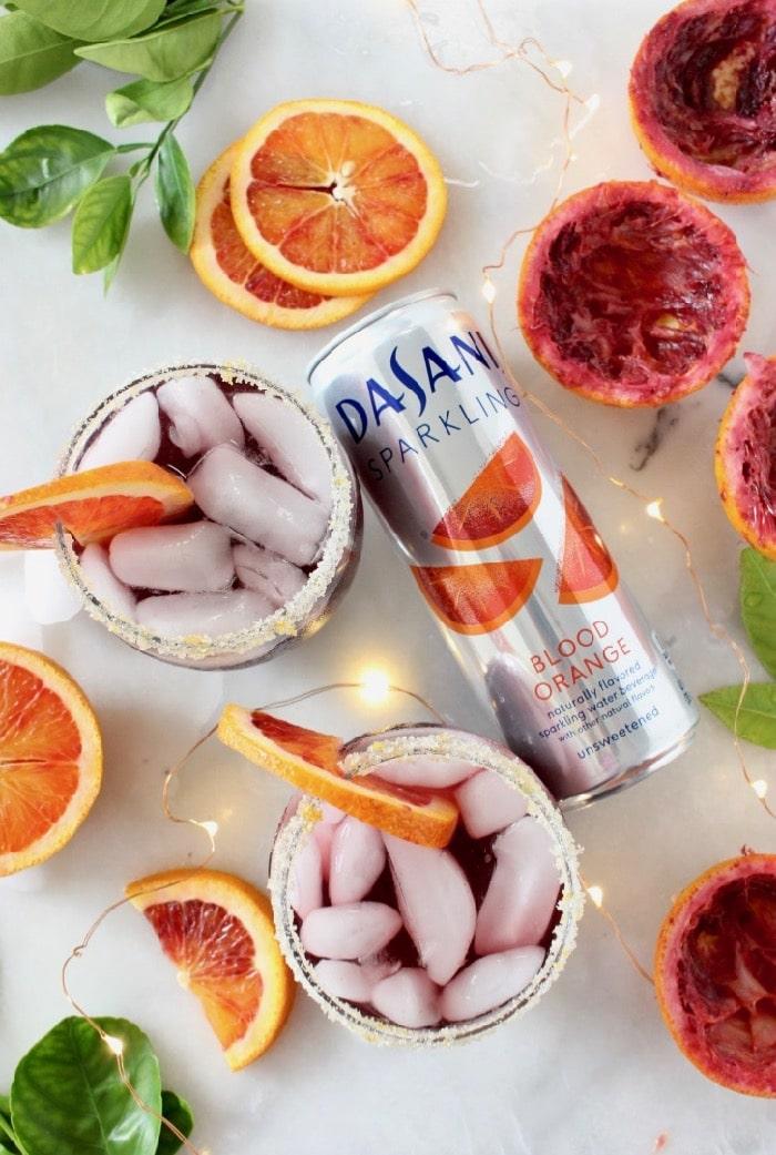 Red Blood Orange Sangria with Dasani Sparkling Water