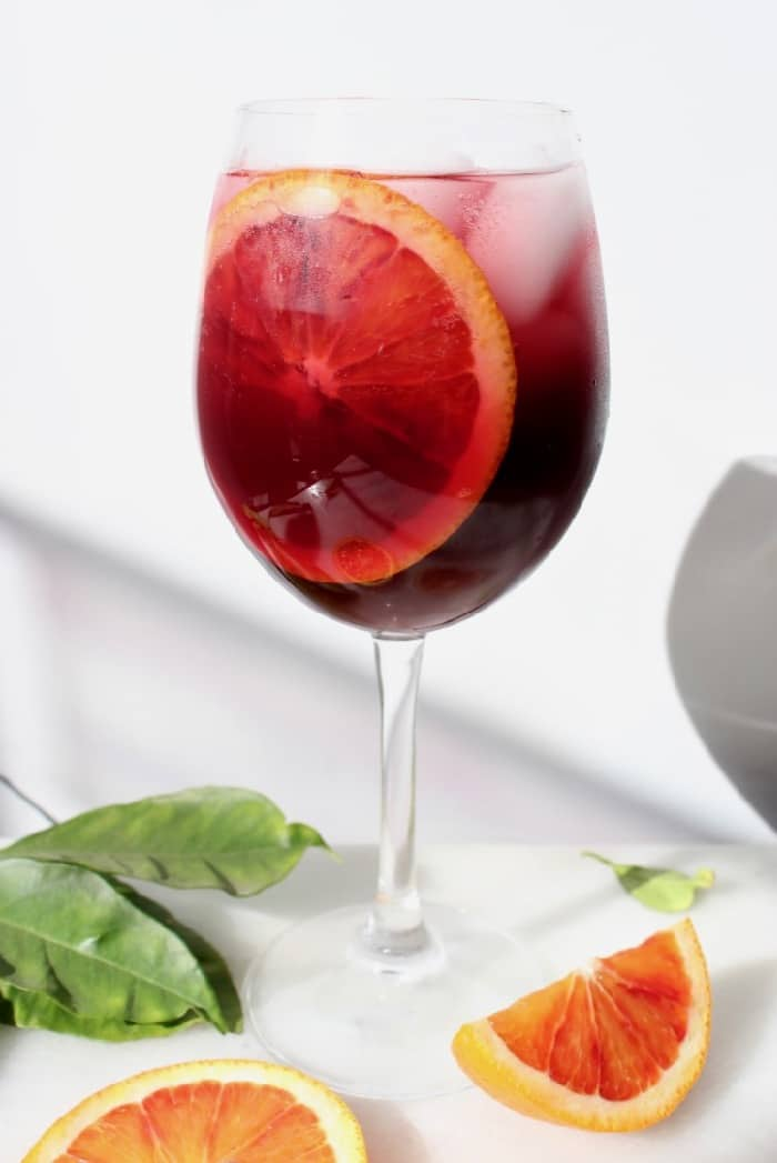 Red Blood Orange Sangria, theperfectly festive wintertime drink