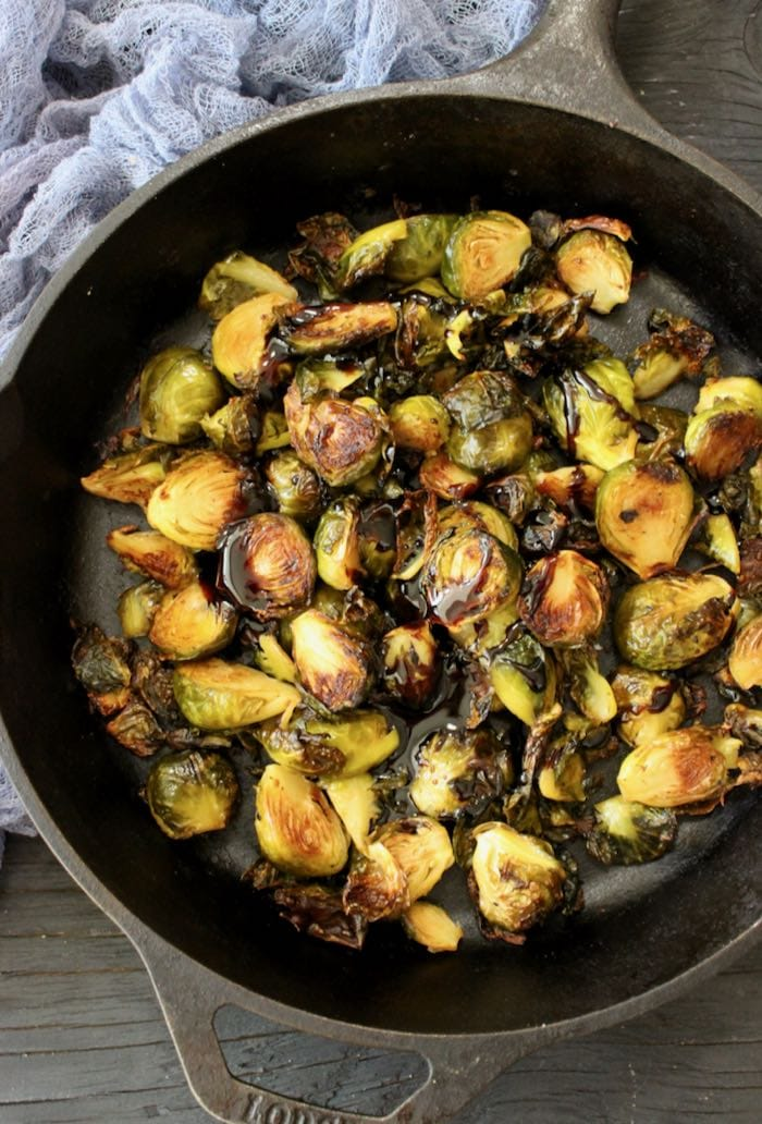 The Best Brussels Sprouts Recipe with Balsamic Glaze, Easy, Tasty, Plant-Based Vegan