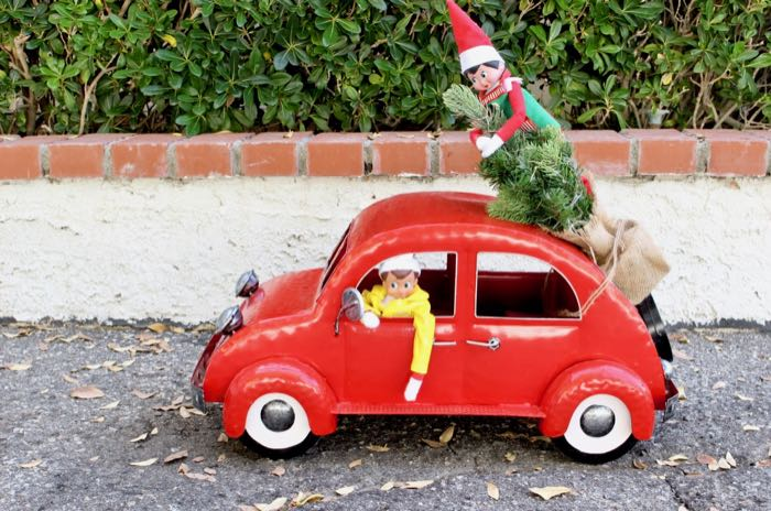 Easy & Funny Elf on the Shelf Ideas 2018 - Elf Driving