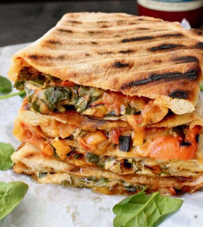 Vegan Calzone Stuffed With Veggies and Spinach