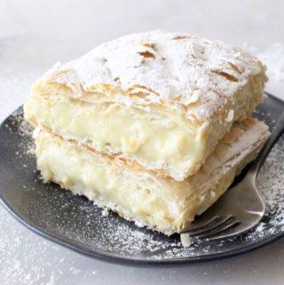 Custard Puff Pastry Napoleon