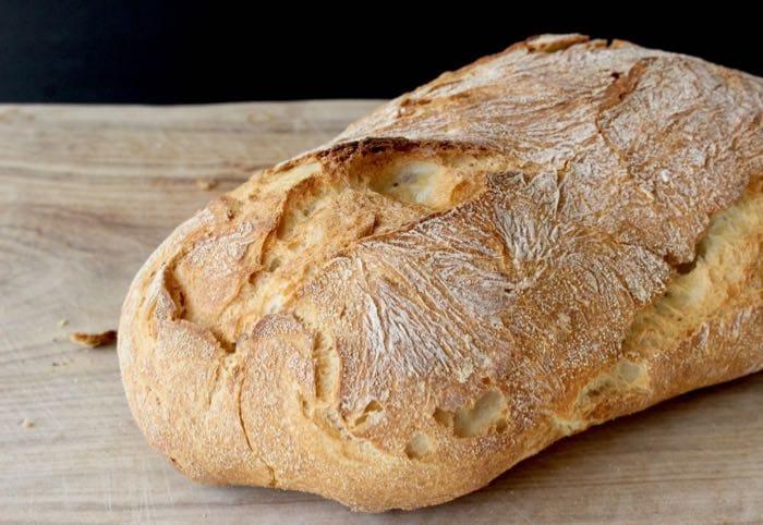 """Easy Ciabatta Bread Recipe or """" Italian Slipper Bread """""""