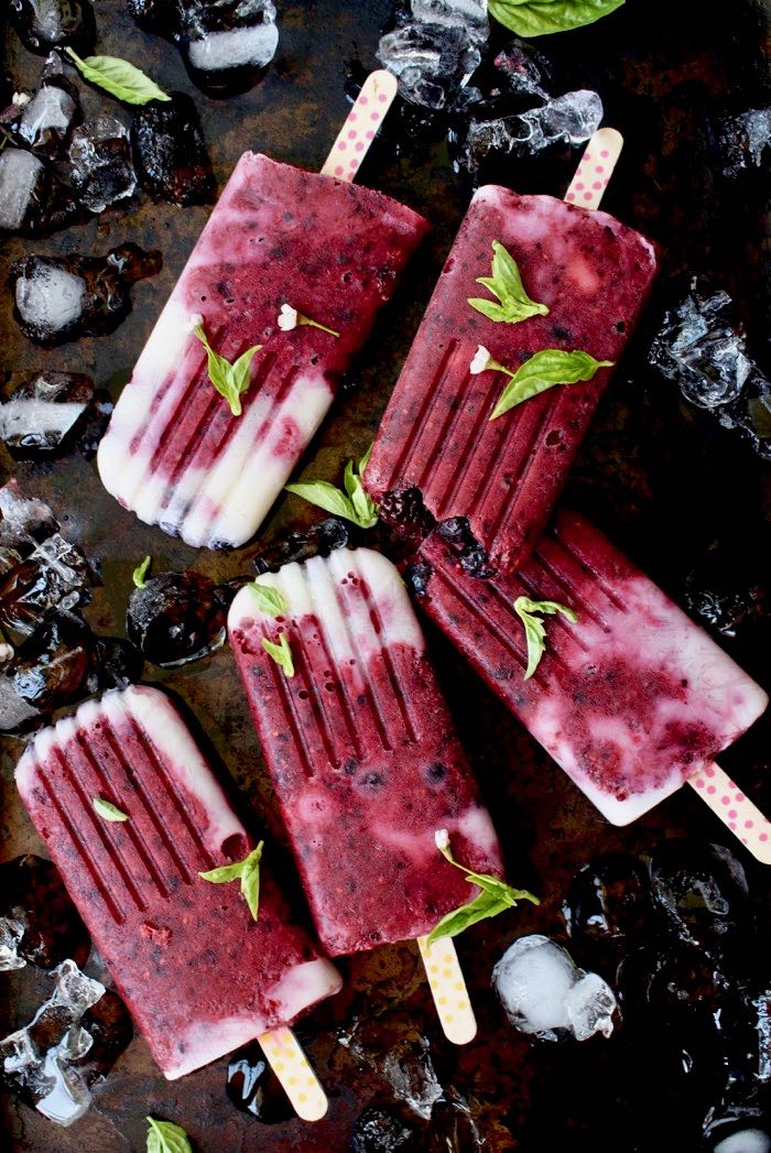 Homemade Real Fruit Popsicles with Berries