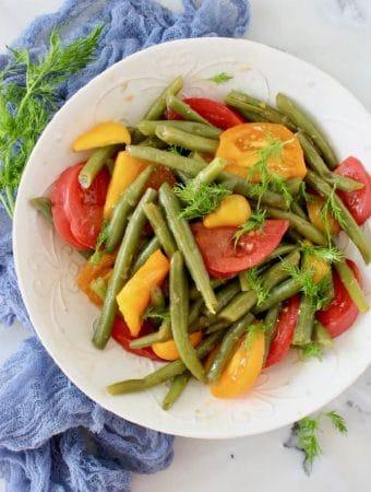 Italian Green Bean Tomato Salad