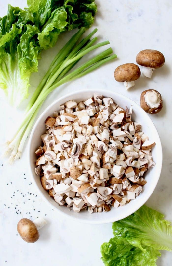 mushroom lettuce wrap ingredients