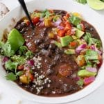 Healthy Vegan Black Bean Soup from Scratch
